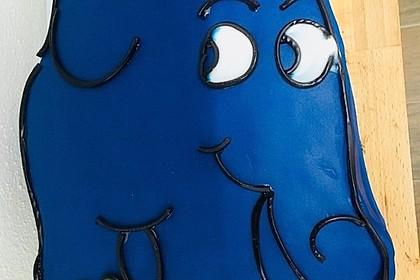 Lettas kleine blaue Elefant  - Motivtorte 129
