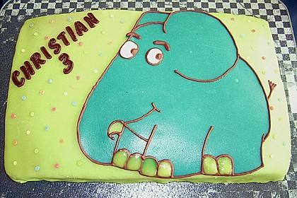 Lettas kleine blaue Elefant  - Motivtorte 107