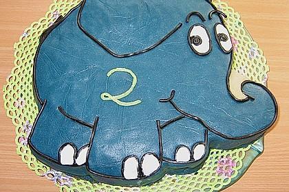 Lettas kleine blaue Elefant  - Motivtorte 29