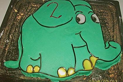Lettas kleine blaue Elefant  - Motivtorte 93