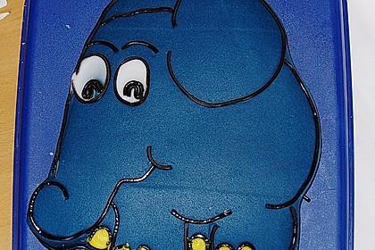 Lettas kleine blaue Elefant  - Motivtorte 36