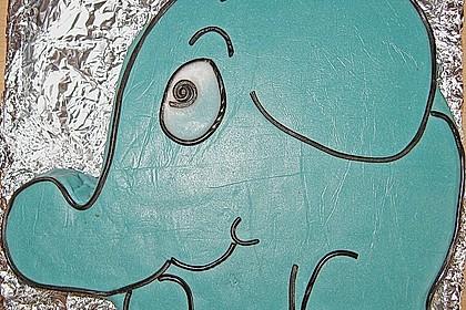 Lettas kleine blaue Elefant  - Motivtorte 50
