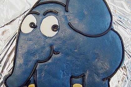 Lettas kleine blaue Elefant  - Motivtorte 26