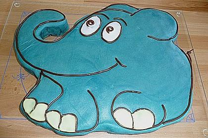 Lettas kleine blaue Elefant  - Motivtorte 110