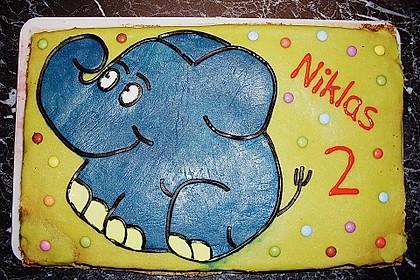 Lettas kleine blaue Elefant  - Motivtorte 35