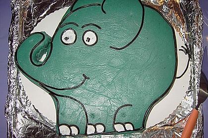 Lettas kleine blaue Elefant  - Motivtorte 83