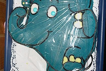 Lettas kleine blaue Elefant  - Motivtorte 73