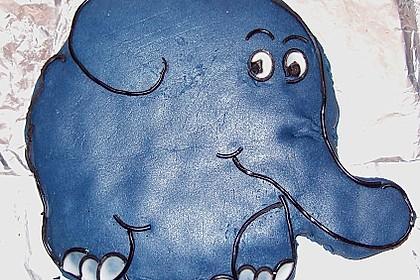Lettas kleine blaue Elefant  - Motivtorte 77
