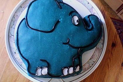 Lettas kleine blaue Elefant  - Motivtorte 106