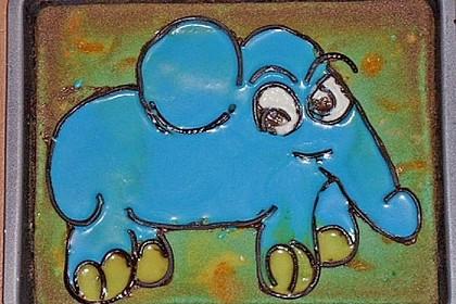 Lettas kleine blaue Elefant  - Motivtorte 177