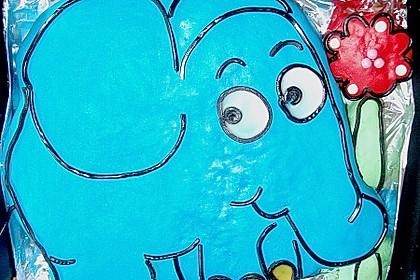 Lettas kleine blaue Elefant  - Motivtorte 40