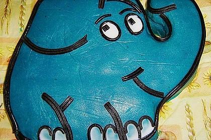 Lettas kleine blaue Elefant  - Motivtorte 49