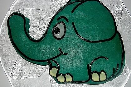 Lettas kleine blaue Elefant  - Motivtorte 38