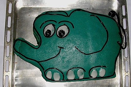 Lettas kleine blaue Elefant  - Motivtorte 117