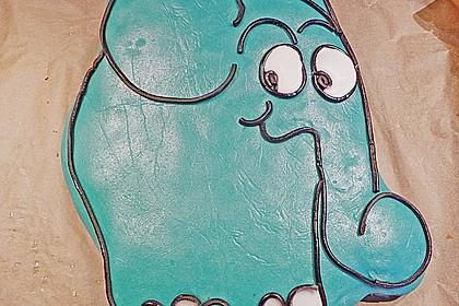 Lettas kleine blaue Elefant  - Motivtorte 120