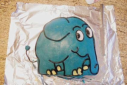 Lettas kleine blaue Elefant  - Motivtorte 16