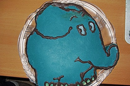 Lettas kleine blaue Elefant  - Motivtorte 124
