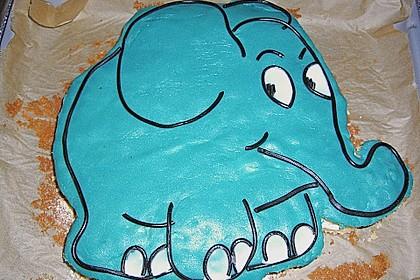 Lettas kleine blaue Elefant  - Motivtorte 15