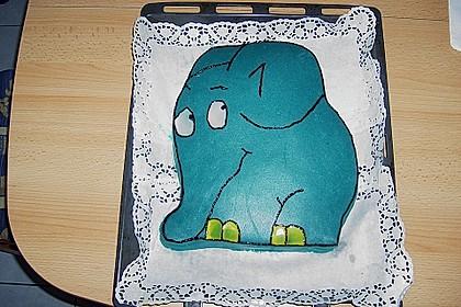 Lettas kleine blaue Elefant  - Motivtorte 18