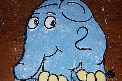 Lettas kleine blaue Elefant  - Motivtorte 75