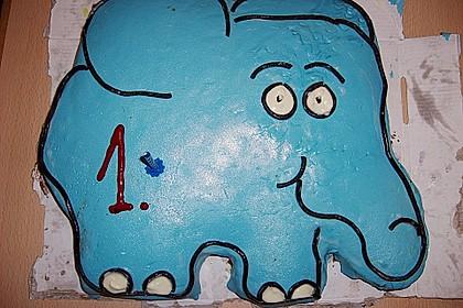 Lettas kleine blaue Elefant  - Motivtorte 94