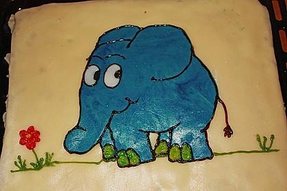 Lettas kleine blaue Elefant  - Motivtorte 51