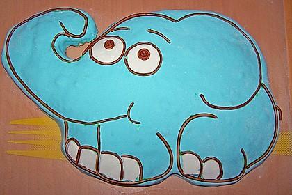 Lettas kleine blaue Elefant  - Motivtorte 125
