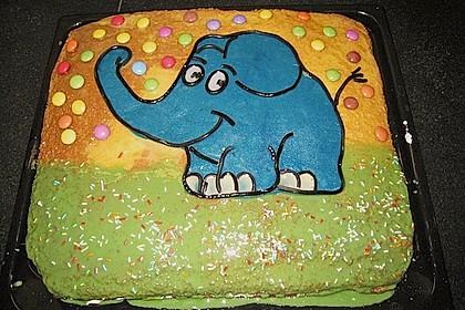 Lettas kleine blaue Elefant  - Motivtorte 37