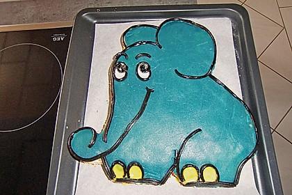 Lettas kleine blaue Elefant  - Motivtorte 82
