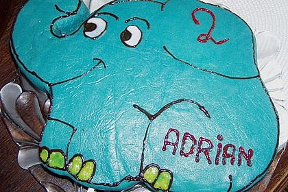 Lettas kleine blaue Elefant  - Motivtorte 65