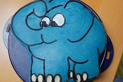 Lettas kleine blaue Elefant  - Motivtorte 87