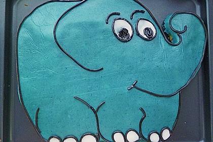 Lettas kleine blaue Elefant  - Motivtorte 104