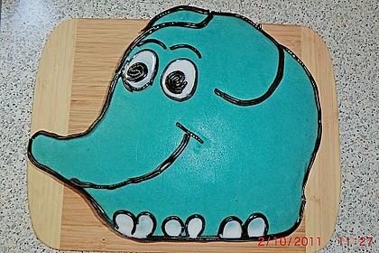 Lettas kleine blaue Elefant  - Motivtorte 69