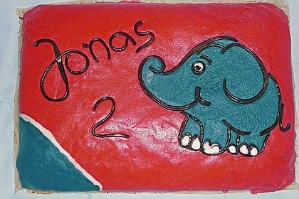 Lettas kleine blaue Elefant  - Motivtorte 30