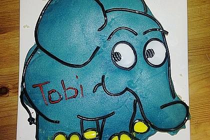 Lettas kleine blaue Elefant  - Motivtorte 70