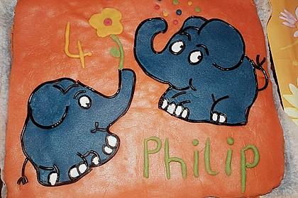 Lettas kleine blaue Elefant  - Motivtorte 54