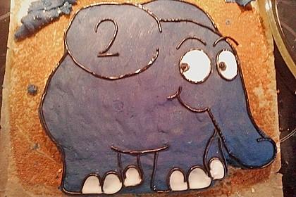 Lettas kleine blaue Elefant  - Motivtorte 91
