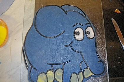 Lettas kleine blaue Elefant  - Motivtorte 135
