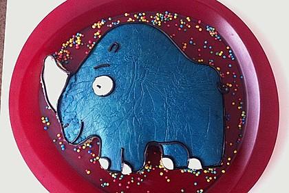 Lettas kleine blaue Elefant  - Motivtorte 145