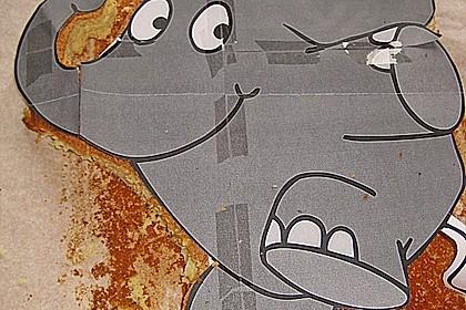 Lettas kleine blaue Elefant  - Motivtorte 161