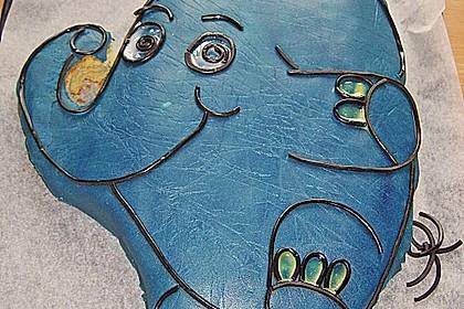 Lettas kleine blaue Elefant  - Motivtorte 64
