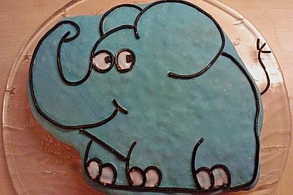 Lettas kleine blaue Elefant  - Motivtorte 66