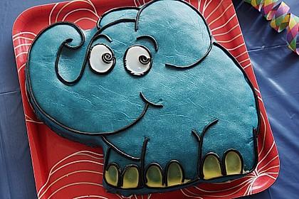 Lettas kleine blaue Elefant  - Motivtorte 1