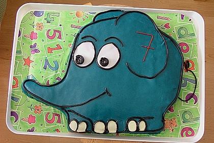 Lettas kleine blaue Elefant  - Motivtorte 61