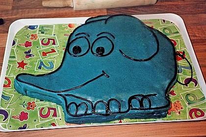 Lettas kleine blaue Elefant  - Motivtorte 162