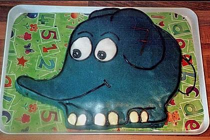 Lettas kleine blaue Elefant  - Motivtorte 136