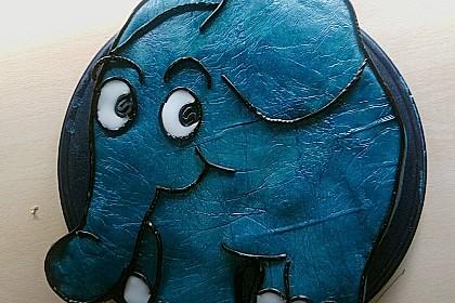 Lettas kleine blaue Elefant  - Motivtorte 47