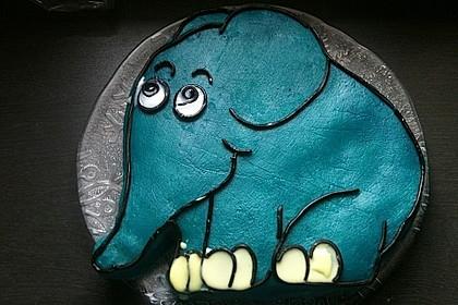 Lettas kleine blaue Elefant  - Motivtorte 22