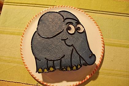 Lettas kleine blaue Elefant  - Motivtorte 6