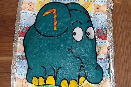 Lettas kleine blaue Elefant  - Motivtorte 59